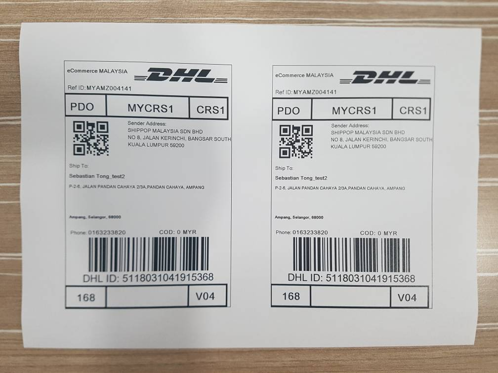 kindly get your parcel ready and place the dhl ecommerce shipping label inside the transparent pocket of your packaging